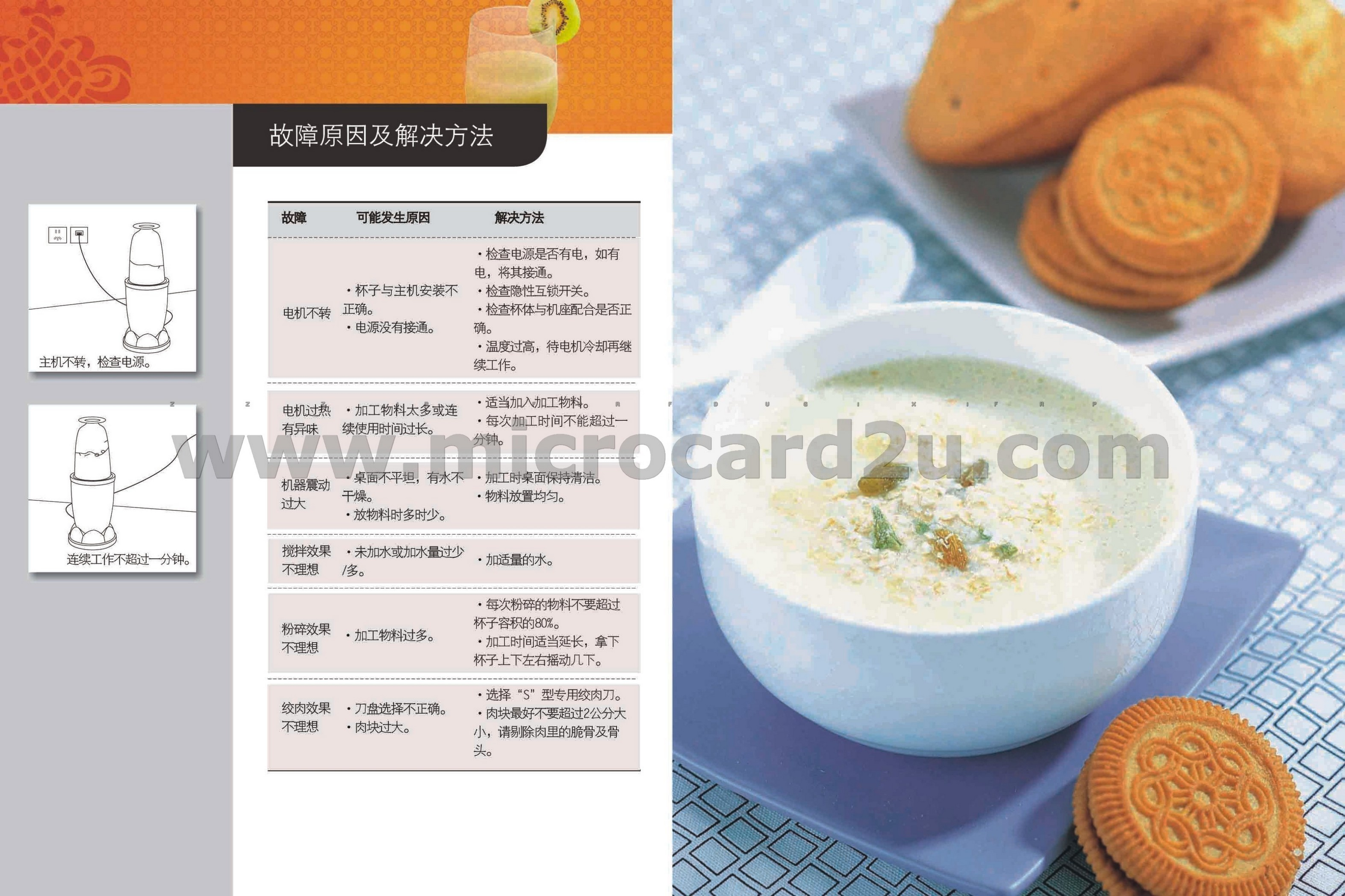 Cookery Book Menu