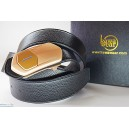 Kawawear i-belt - DL1-2 Gold - Black Litchi Texture