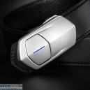 Kawawear i-belt - DL1-1 Silver - Black Water Ripple Texture